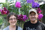 Jill and hubby at Orchid farm in Thailand