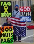 Westboro Baptist protesters