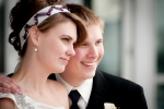 Bride and groom profile
