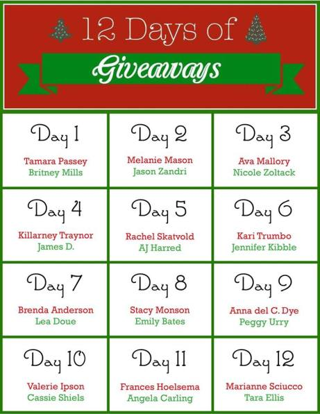 12 Days of Giveaways chart