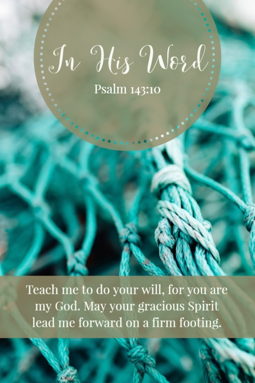 Teach me to do your will, for you are my God. May your gracious Spirit lead me forward on a firm footing.