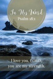 I love you, LORD; you are my strength.